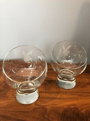 Authentic Playboy RARE Chair Drinking Glasses Collector's Item!