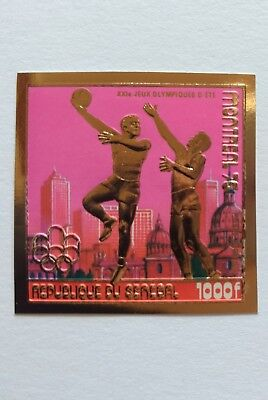 SENEGAL Olympia 1976 Gold MNH imperf ungezähnt olympische Spiele BASKETBALL