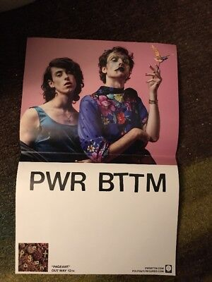 PWR BTTM Pageant Promo Poster Rare OOP Indie Electro Dance Pop