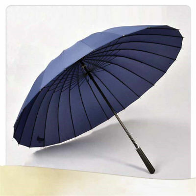 Big Skeleton Business Unisex Rain Umbrella Plain Windproof Straight Shank Large