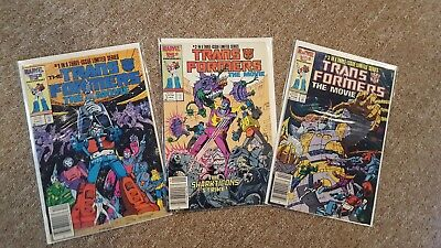 The Transformers Comic Book Limited Series Full Set of all 3