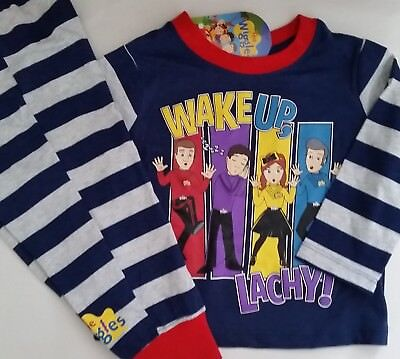 THE WIGGLES Licensed Boy long knit pyjamas pajamas pjs sleepwear NEW sizes 1-4