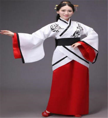 Chinese Women Ancient Costume Hanfu Vintage Party Tang Dynasty Dress Tops 2018