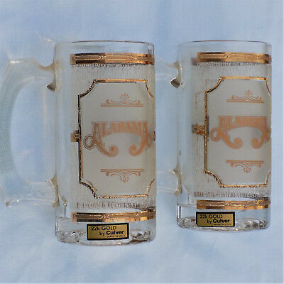 ALABAMA the Band 22k GOLD Mugs by Culver 1988 Personal Gift from Randy Owens
