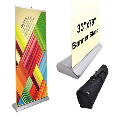 """33"""" x 79"""" Luxury Rollup Retractable Banner Stand 27690"""