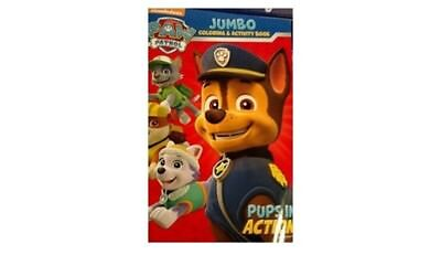 Paw Patrol Jumbo Colouring and Activity Book Pups in Action. Bendon. Brand New