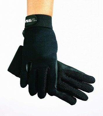 (Small, Ladies Universal 6/7) - SSG Fleece Lined Winter Gripper Riding Gloves
