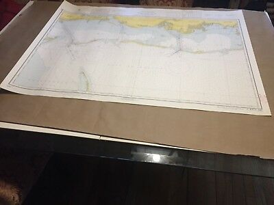 "Vintage Nautical Chart - Mississipi Sound and Approaches  44"" x 32""  C&GS 1267"