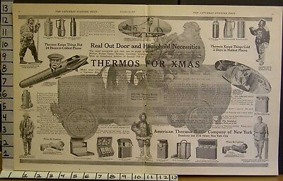 1909 Thermos Canteen Davis Roosevelt Curtiss Peary Wright Shackleton Ad 23027