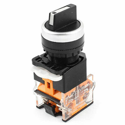 LA38/209 22mm Panel Mount NO+NC DPST 2 Position Rotary Selector Switch