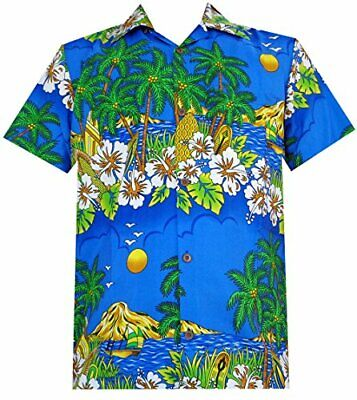 Hawaiian Shirts Mens Floral Scenic Beach Aloha Party Camp Short Sleeve Holiday