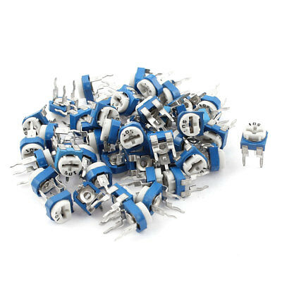 50Pcs 1M ohm Vertical PCB Preset Variable Resistor Trimmer Potentiometer Blue