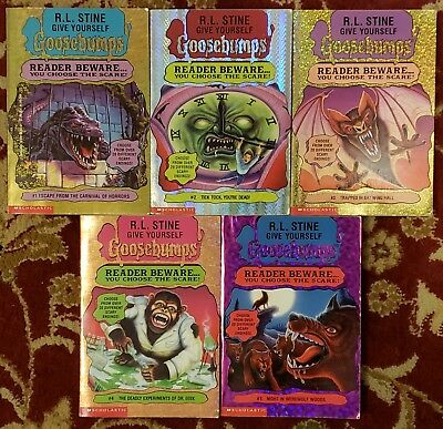 Give Yourself Goosebumps books #1-5 by R.L. Stine - lot of 5