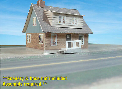 N Scale Building - Cover Stock(paper) Pre-Cut Swedish Style house -NS1N