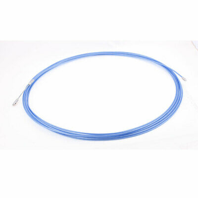 15M 49ft Long Blue Electrical Steel Wire Threader Cable Lead Puller Pulling