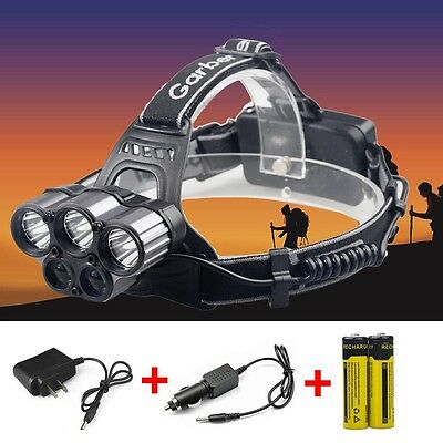 ZOOM 80000LM 6 Modes 5x T6 LED Rechargeable 18650 Headlamp Head Light Torch USA