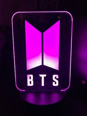 BTS new logo, army  KPOP 3D color changing LED night light