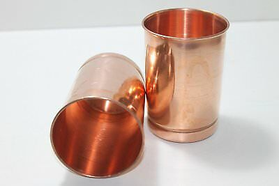 Handmade Pure Copper Glass Cup For Water Copper Tumbler Glass Set of 2 Pcs