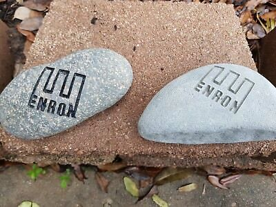 RARE ENRON Engraved Rocks - Integrity, Respect, Communication