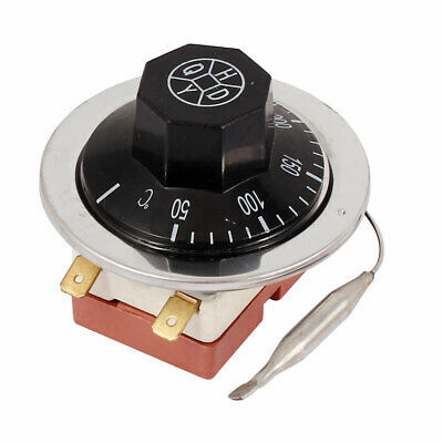 AC 250V 16A 50-300 Celsius Detection 2 Terminals Temperature Switch Thermostat