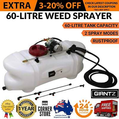 Weed Sprayer 60L ATV Garden Spray 12V Pump Tank Chemical Spray Rear Boom Wand