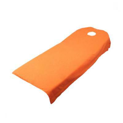 Massage Bed Cover Table Plinth Treatment Couches Sheets With Hole Orange