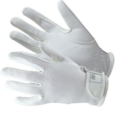 (Size 9.5, White) - Woof Wear Grand Prix Riding Glove. Free Shipping