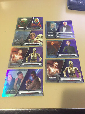 Star Wars - Evolution - Tarkin - Purple Parallel Chase Card LOT of 8 - NM
