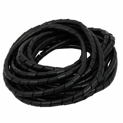 20mm Dia 8.2ft 2.5M Spiral Cable Wire Wrap Tube Computer Manage Cord T1J5 D J7F8