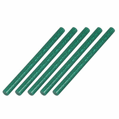 5pcs 7mm Diameter 100mm Length Hot Melt Glue Adhesive Stick Blackish Green