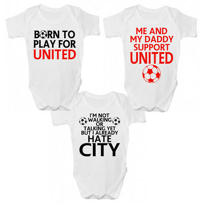 Funny Manchester UTD Baby Grow / Sleepsuit - Funny Manchester Babies Clothing