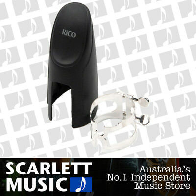 Rico HBC1S Bass Clarinet Silver H-Ligature For Selma-Style Mouthpieces w/ Cap