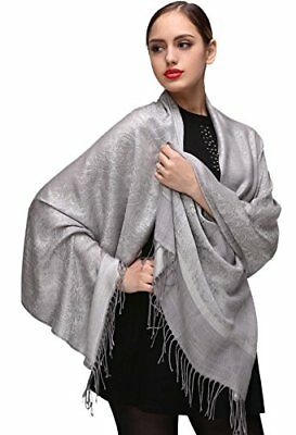 Silver Pashminas Shawls and Wraps for Weddings or Evening Dresses Jackets Bridal