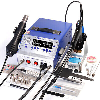 WEP 948-II 3IN1 Upgraded Soldering Iron &Desoldering Gun& Hot Air Rework Station