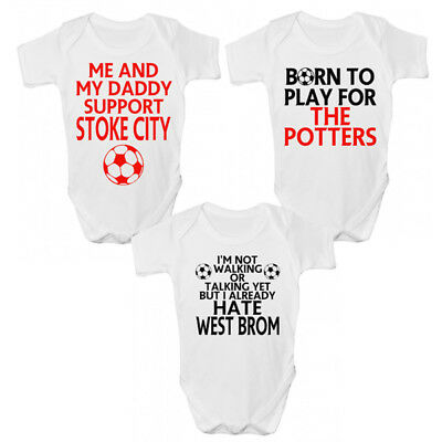 Stoke City FC Football Baby Grow - Funny Potters Premier League Babies Clothing