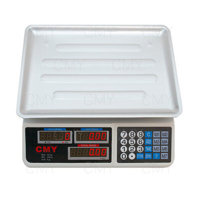 Digital Electronic 40KG Weigh and Price Scale Fruit Veg Shop Retail UK PLUG
