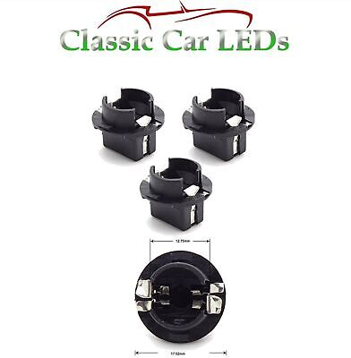 3x Audi Seat Ford T10 W5W 501 Interior Map Light Twist Lock Bulb Holder Sockets