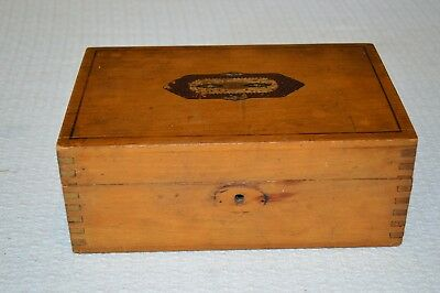 Vintage Antique Maple Dresser trinket  jewelry Box