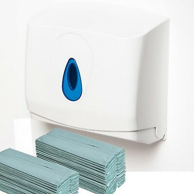 Great Value Green Paper Hand Towels C fold 1 Ply 210 tissues With Dispenser