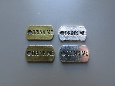 """""""Drink Me"""" Alice in Wonderland Jewellery Charms/Pendants 2 colours to Choose"""