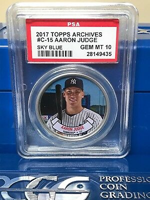 2017 Topps Archives Coins C15 Aaron Judge - ROOKIE COIN - PSA 10 MISLABEL #B