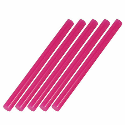 5pcs 7mm Dia 100mm Long Hot Melt Glue Adhesive Stick Fuchsia