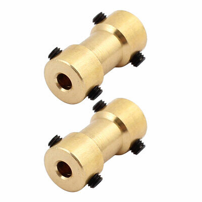 2pcs 3.17mm to 4.0mm Copper DIY Motor Shaft Coupling Joint Connector for Toy Car