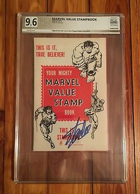 Marvel Value Stamp Book Pgx 9.6 Signed Stan Lee Not Cgc Cbcs White 9.8? Mvs Hulk