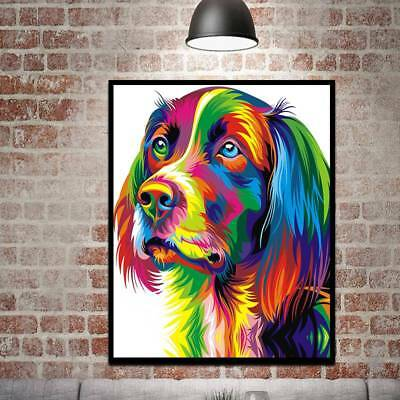 Dog Unframed Modern Abstract Oil Painting Watercolor Huge Wall Decor On Canvas