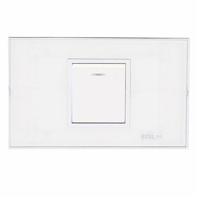 118 Type AC 250V 10A 1 Gang 1 Way On/Off Press Button Wall Mounted Switch w LED