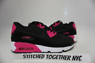 833376 010) GS GIRL'S Youth Nike Air Max 90 Ltr BlackPink