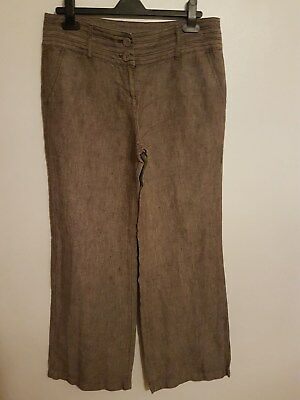 Ref 181 - MONSOON - Ladies Womens Girls Lovely Brown Stylish Trousers Size 12
