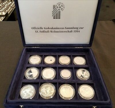 1994 World Cup 12 Coin Silver Proof Set (German) w/ COA