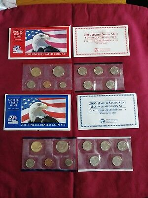 2003 United States Mint Uncirculated Coin Set - P & D Mints 20 Brilliant Coins
